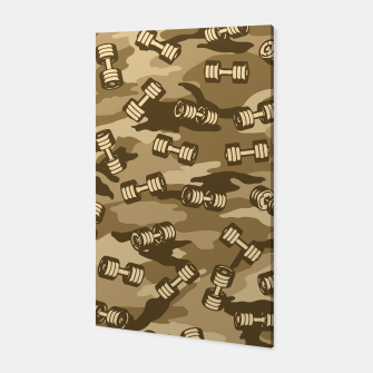 Thumbnail image of Dumbbell Gym Camo DESERT Canvas, Live Heroes