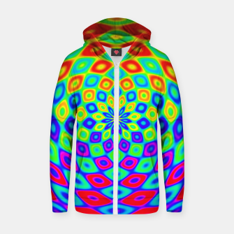 Thumbnail image of Colors of the Rainbow Zip up hoodie, Live Heroes