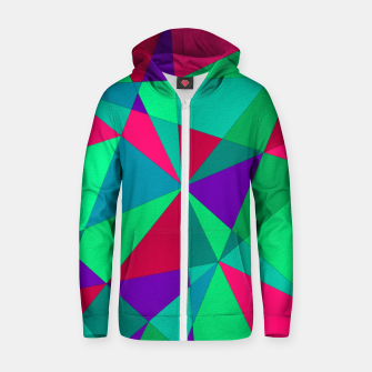Thumbnail image of Abstract Triangle Zip up hoodie, Live Heroes
