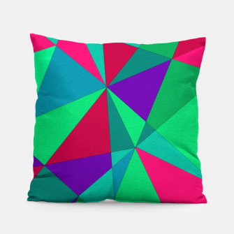 Thumbnail image of Abstract Triangle Pillow, Live Heroes