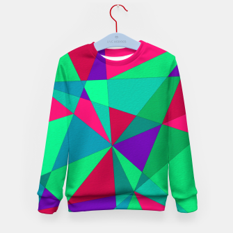 Thumbnail image of Abstract Triangle Kid's sweater, Live Heroes