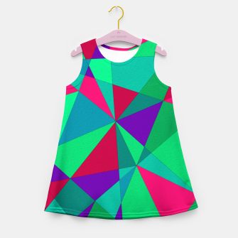 Thumbnail image of Abstract Triangle Girl's summer dress, Live Heroes
