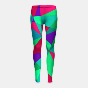 Thumbnail image of Abstract Triangle Girl's leggings, Live Heroes
