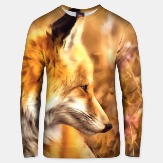 Thumbnail image of red fox acrylic four reacstd Unisex sweater, Live Heroes