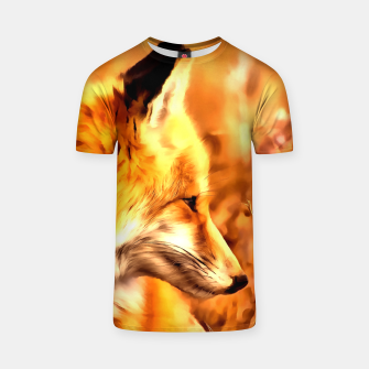 Thumbnail image of red fox acrylic four reaccw T-shirt, Live Heroes
