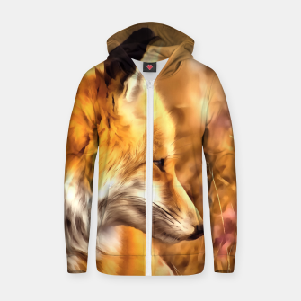 Thumbnail image of red fox acrylic four reacstd Zip up hoodie, Live Heroes