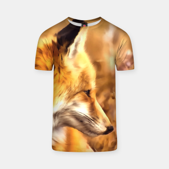 Thumbnail image of red fox acrylic four reacstd T-shirt, Live Heroes
