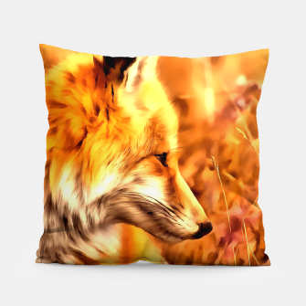 Miniaturka red fox acrylic four reaccw Pillow, Live Heroes