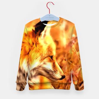 Miniaturka red fox acrylic four reaccw Kid's sweater, Live Heroes