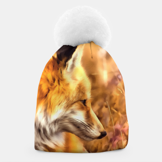 Thumbnail image of red fox acrylic four reacstd Beanie, Live Heroes