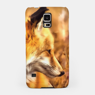 Thumbnail image of red fox acrylic four reacstd Samsung Case, Live Heroes