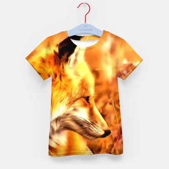 Miniaturka red fox acrylic four reaccw Kid's t-shirt, Live Heroes