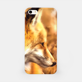 Miniaturka red fox acrylic four reacstd iPhone Case, Live Heroes