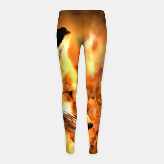 Miniaturka red fox acrylic four reaccw Girl's leggings, Live Heroes