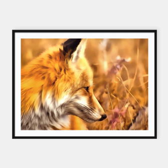 Miniaturka red fox acrylic four reacstd Framed poster, Live Heroes