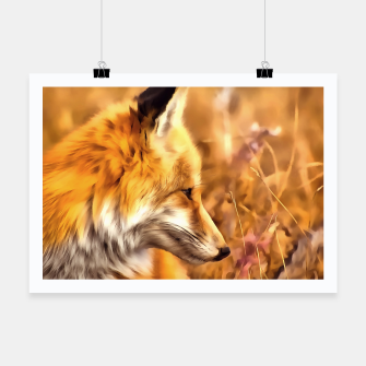 Miniaturka red fox acrylic four reacstd Poster, Live Heroes