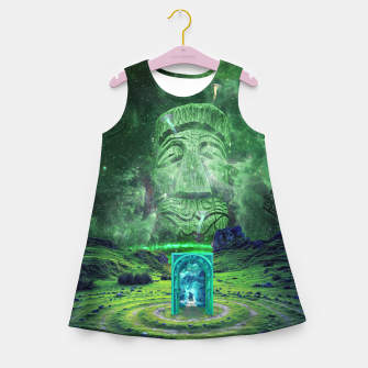 Thumbnail image of Psychedelic Imagination Girl's summer dress, Live Heroes