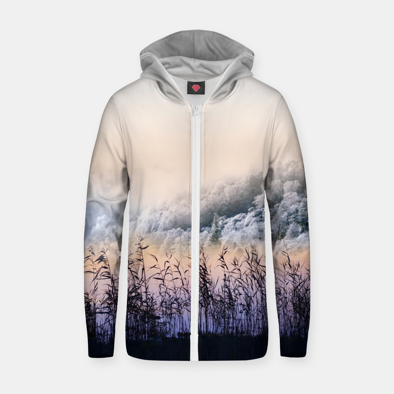 Image of  Far mountain Zip up hoodie - Live Heroes