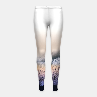 Thumbnail image of  Far mountain Girl's leggings, Live Heroes