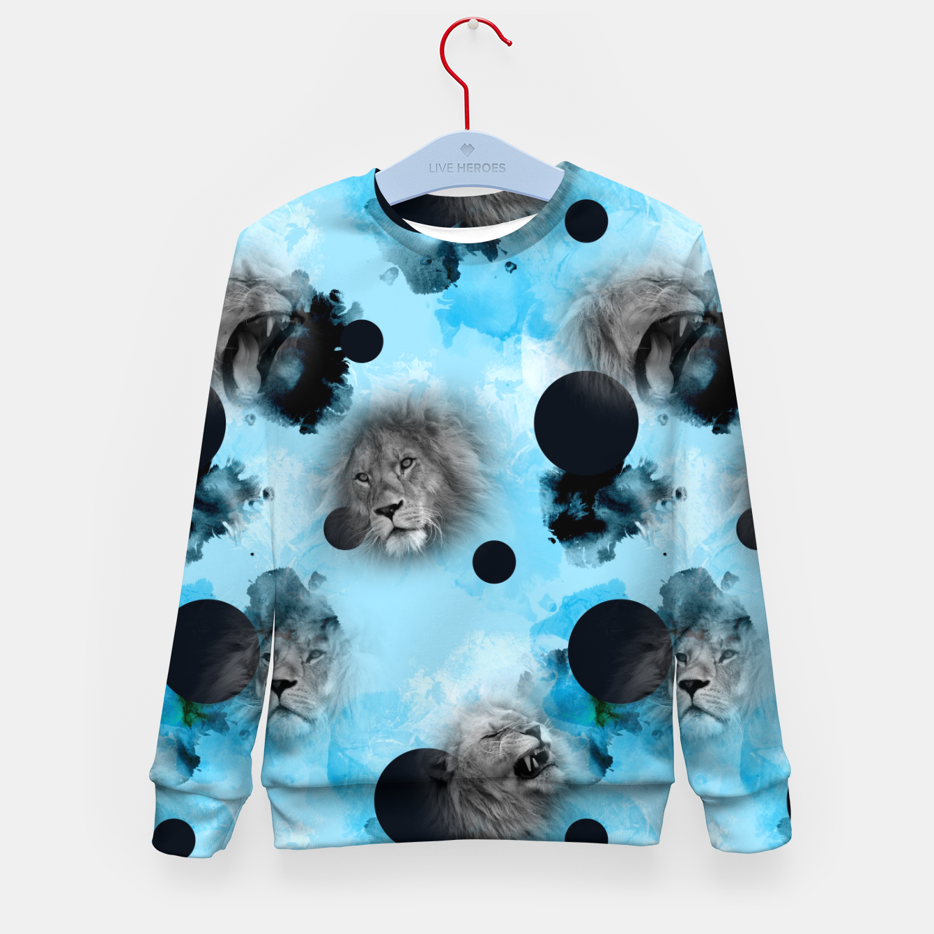 Image of lions Kid's sweater - Live Heroes