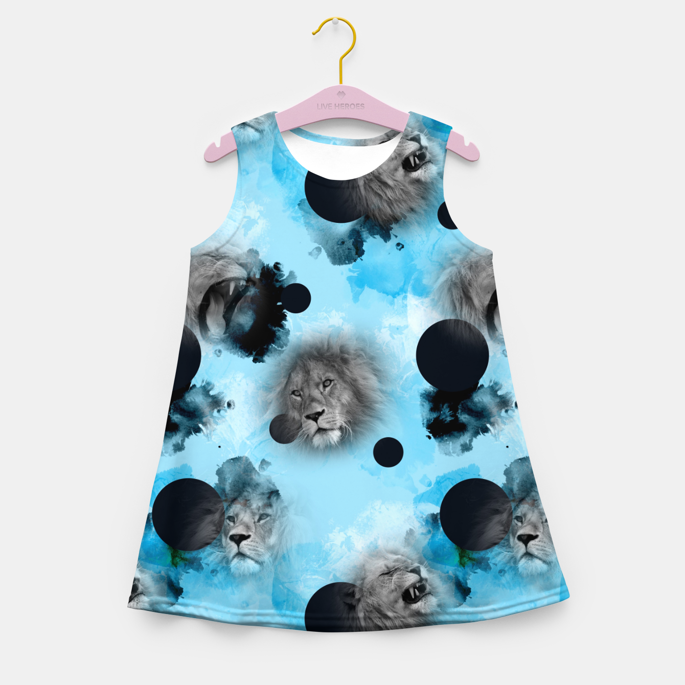 Image of lions Girl's summer dress - Live Heroes