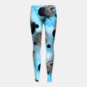 Thumbnail image of lions Girl's leggings, Live Heroes