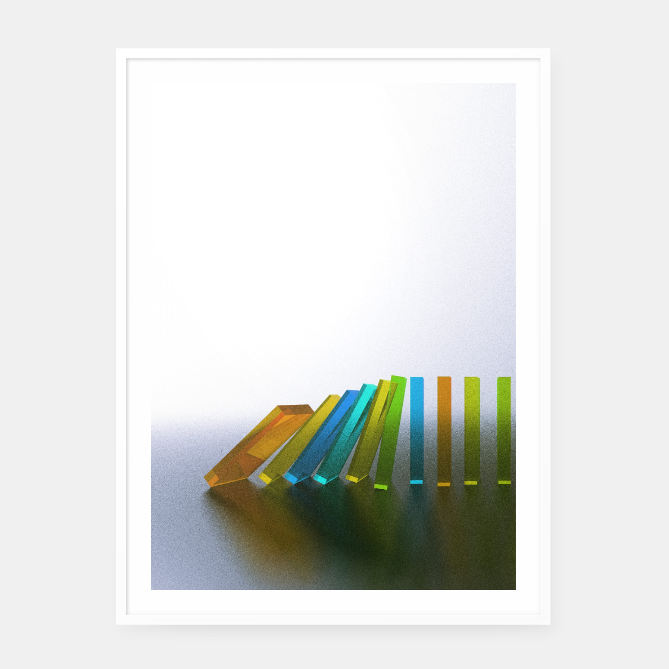 Image of Domino Effect 2 Framed poster - Live Heroes