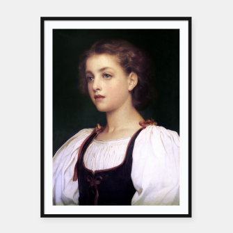Thumbnail image of Biondina by Lord Frederic Leighton Framed poster, Live Heroes