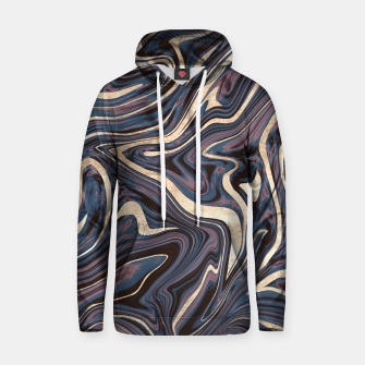 Thumbnail image of Mauve Blue Black White Gold Marble #1 #decor #art  Kapuzenpullover, Live Heroes
