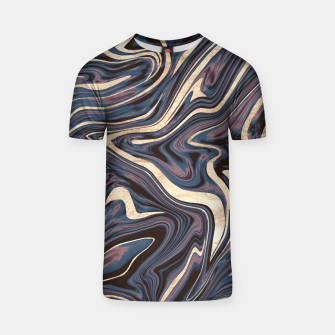 Thumbnail image of Mauve Blue Black White Gold Marble #1 #decor #art  T-Shirt, Live Heroes