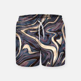 Thumbnail image of Mauve Blue Black White Gold Marble #1 #decor #art  Badeshorts, Live Heroes