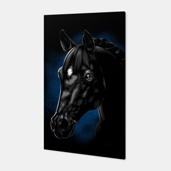 Beautiful Arabian horse Canvas Bild der Miniatur
