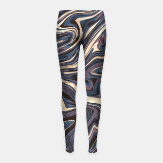 Thumbnail image of Mauve Blue Black White Gold Marble #1 #decor #art  Kinder-Leggins, Live Heroes