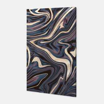Thumbnail image of Mauve Blue Black White Gold Marble #1 #decor #art  Canvas, Live Heroes