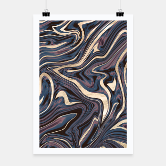 Thumbnail image of Mauve Blue Black White Gold Marble #1 #decor #art  Plakat, Live Heroes