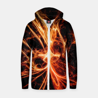 Thumbnail image of Abstract fire Zip up hoodie, Live Heroes