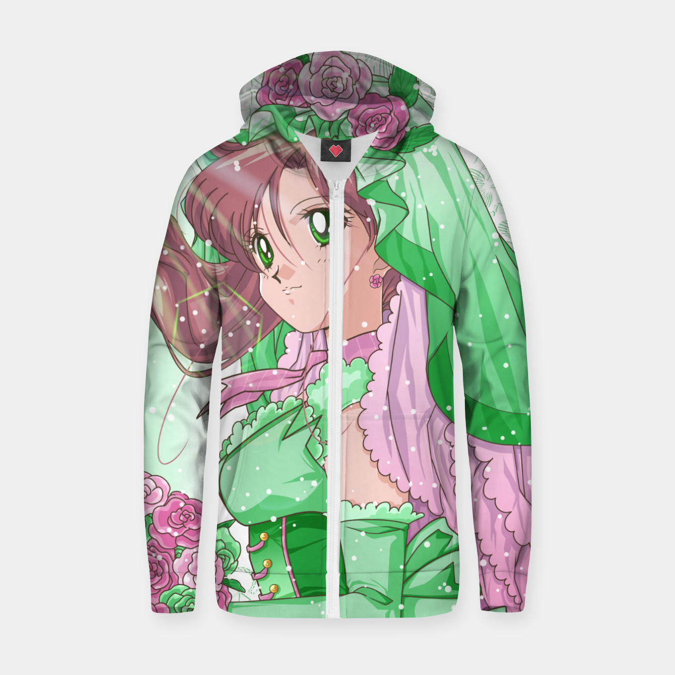 Zdjęcie Makoto Wedding Dress Zip up hoodie - Live Heroes