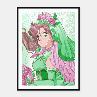 Miniaturka Makoto Wedding Dress Framed poster, Live Heroes