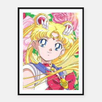 Sailor Moon 90's Crystal Framed poster obraz miniatury