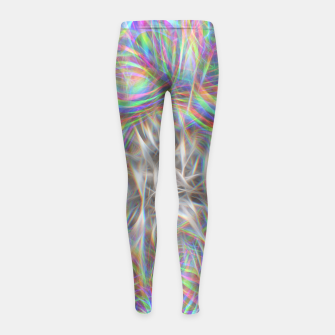 Thumbnail image of Psychedelic Background Girl's leggings, Live Heroes