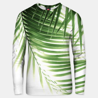 Thumbnail image of Palm Leaves Green Vibes #9 #tropical #decor #art  Unisex sweatshirt, Live Heroes