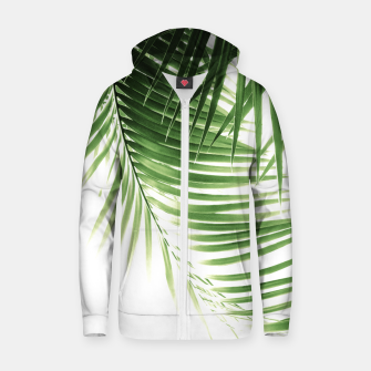 Thumbnail image of Palm Leaves Green Vibes #9 #tropical #decor #art  Reißverschluss kapuzenpullover, Live Heroes