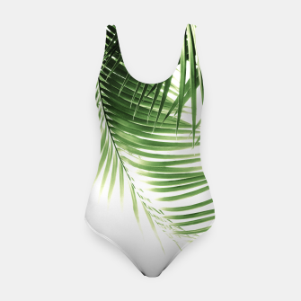 Thumbnail image of Palm Leaves Green Vibes #9 #tropical #decor #art  Badeanzug, Live Heroes