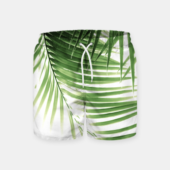 Thumbnail image of Palm Leaves Green Vibes #9 #tropical #decor #art  Badeshorts, Live Heroes