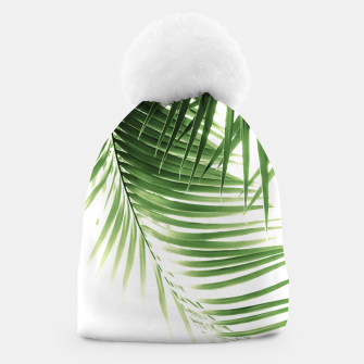 Thumbnail image of Palm Leaves Green Vibes #9 #tropical #decor #art  Mütze, Live Heroes