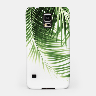 Thumbnail image of Palm Leaves Green Vibes #9 #tropical #decor #art  Handyhülle für Samsung, Live Heroes