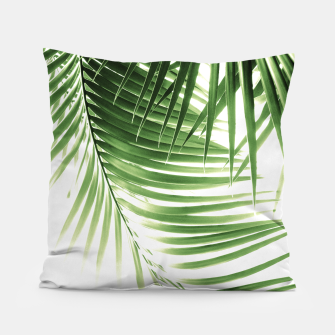 Thumbnail image of Palm Leaves Green Vibes #9 #tropical #decor #art  Kissen, Live Heroes