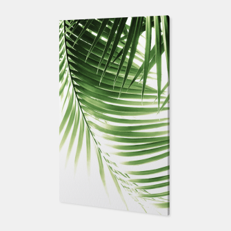 Thumbnail image of Palm Leaves Green Vibes #9 #tropical #decor #art  Canvas, Live Heroes
