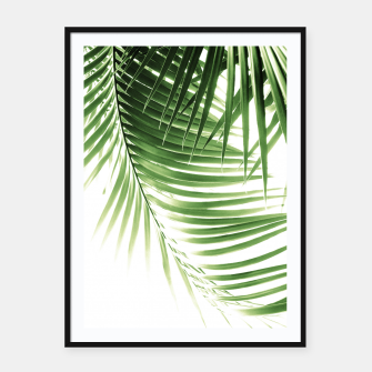 Thumbnail image of Palm Leaves Green Vibes #9 #tropical #decor #art  Plakat mit rahmen, Live Heroes