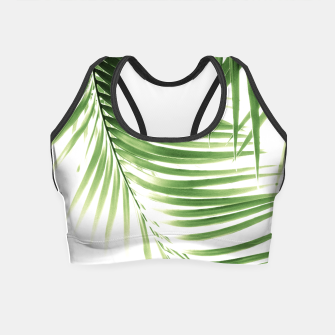 Thumbnail image of Palm Leaves Green Vibes #9 #tropical #decor #art  Crop Top, Live Heroes